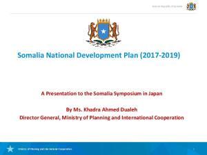 Somalia National Development Plan ( )
