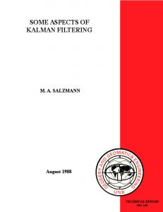 SOME ASPECTS OF KALMAN FILTERING