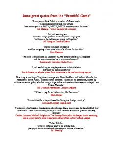Some great quotes from the Beautiful Game