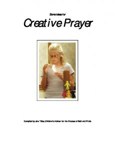 Some ideas for Creative Prayer