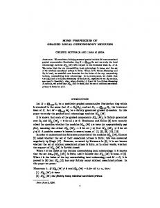SOME PROPERTIES OF GRADED LOCAL COHOMOLOGY MODULES