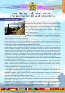 some things to do while come to anzi-pacifuc forum vi at yogyakarta borobudur temple