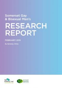 Somerset Gay & Bisexual Men s RESEARCH REPORT