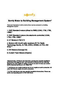 Somfy Motor to Building Management System*