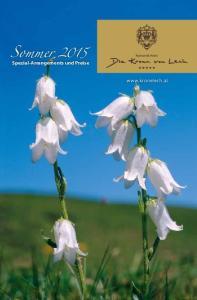 Sommer Spezial-Arrangements und Preise