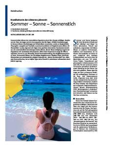 Sommer und Sonne bedeuten