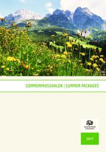 SOMMERPAUSCHALEN SUMMER PACKAGES GOLF SOMMER ANGEBOTE SUMMER SPECIALS
