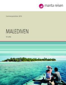 Sommerpreisliste Malediven. Sri lanka