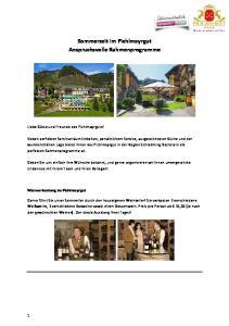 Sommerzeit im Pichlmayrgut Anspruchsvolle Rahmenprogramme