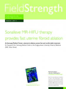 Sonalleve MR-HIFU therapy provides fast uterine fibroid ablation