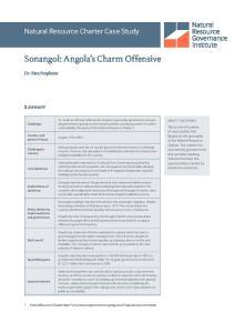 Sonangol: Angola s Charm Offensive