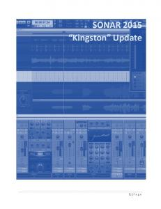 SONAR 2015 Kingston Update