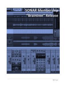 SONAR Membership Braintree Release