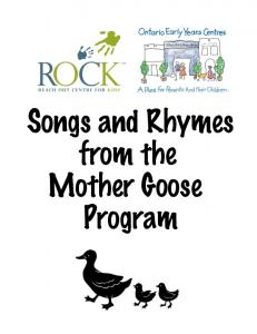 Songs and Rhymes from the Mother Goose Program