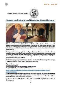 Sonidos en el Silencio en el Museo San Marco, Florencia