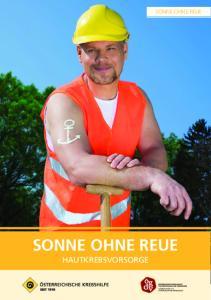 SONNE OHNE REUE SONNE OHNE REUE HAUTKREBSVORSORGE