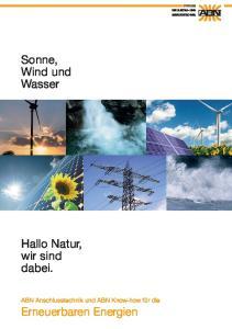 Sonne, Wind und Wasser