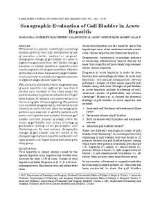 Sonographic Evaluation of Gall Bladder in Acute Hepatitis