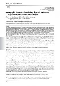 Sonographic features of medullary thyroid carcinomas a systematic review and meta-analysis