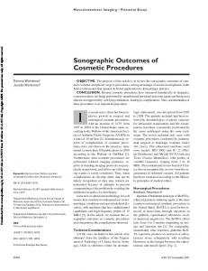 Sonographic Outcomes of Cosmetic Procedures