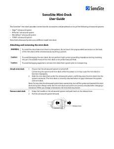 SonoSite Mini-Dock User Guide