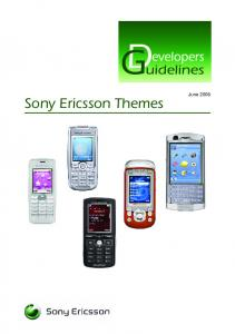 Sony Ericsson Themes. June 2006