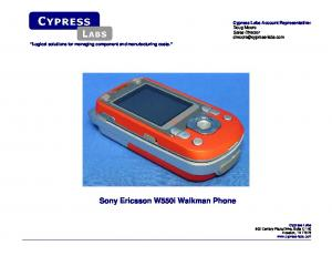 Sony Ericsson W550i Walkman Phone