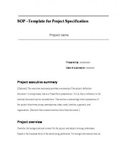 SOP Template for Project Specification