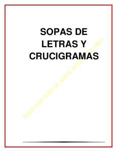 SOPAS DE LETRAS Y CRUCIGRAMAS