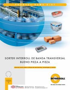 SORTER INTERROLL DE BANDA TRANSVERSAL BUENO PIEZA A PIEZA
