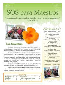 SOS para Maestros. La Juventud. Proverbios 3:1-7