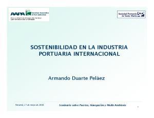 SOSTENIBILIDAD EN LA INDUSTRIA PORTUARIA INTERNACIONAL