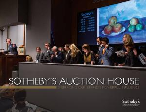 sotheby S AUCTION HOUSE EMBRACING OUR BRAND S POWERFUL INFLUENCE