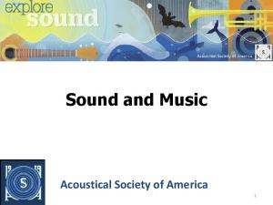 Sound and Music. Acoustical Society of America 1