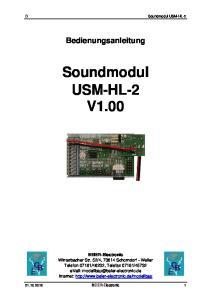 Soundmodul USM-HL-2 V1.00