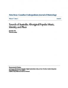 Sounds of Australia: Aboriginal Popular Music, Identity, and Place