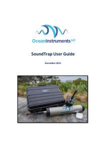 SoundTrap User Guide. December 2015