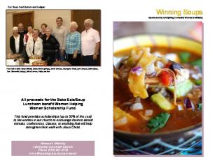 Soup Luncheon benefit Women Helping Women Scholarship Fund