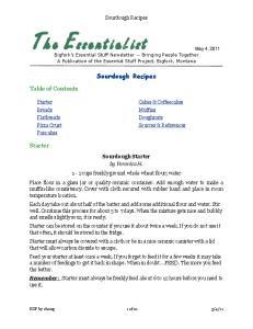 Sourdough Recipes. Sourdough Recipes