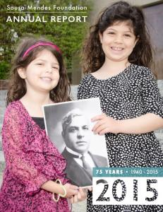 Sousa Mendes Foundation. AnnuAl RepoRt