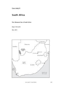 South Africa. Case study 9. I n d i a n O c e a n. The Khomani San of South Africa. Roger Chennells. May Zimbabwe. Botswana. Namibia