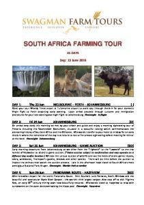 SOUTH AFRICA FARMING TOUR