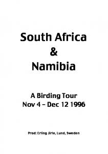 South Africa & Namibia