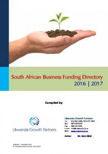 South African Business Funding Directory