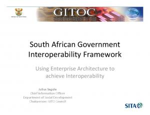 South African Government Interoperability Framework