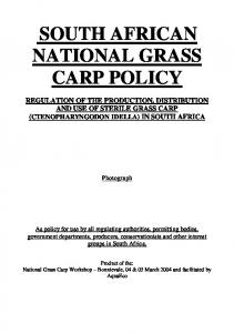 SOUTH AFRICAN NATIONAL GRASS CARP POLICY