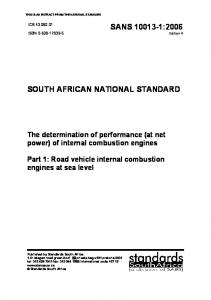 SOUTH AFRICAN NATIONAL STANDARD