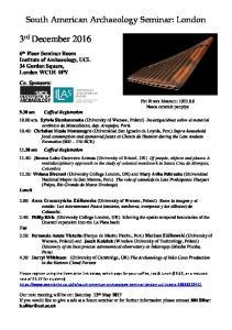 South American Archaeology Seminar: London