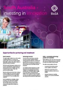 South Australia - investing in innovation