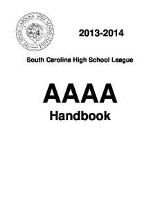 South Carolina High School League AAAA. Handbook